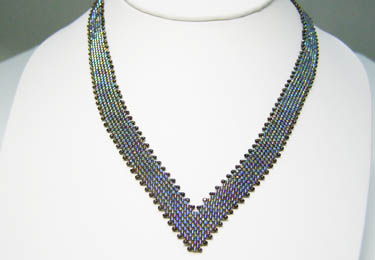 V Neck Peyote Necklace